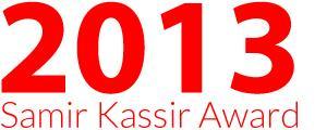 Prix Samir Kassir 2013